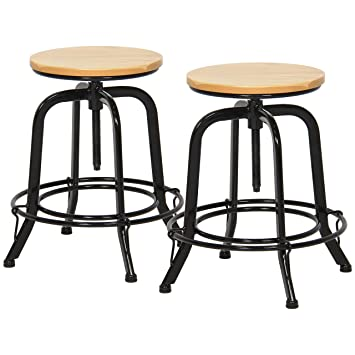 Outstanding Amazon Com Best Choice Products Set Of 2 Round Industrial Bralicious Painted Fabric Chair Ideas Braliciousco