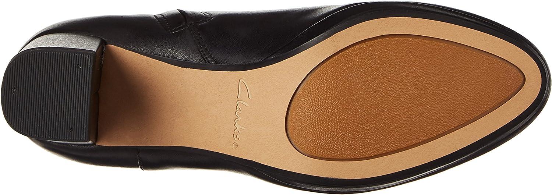 Clarks Damen Kelda Pearl Stiefel Schwarz Black Leather