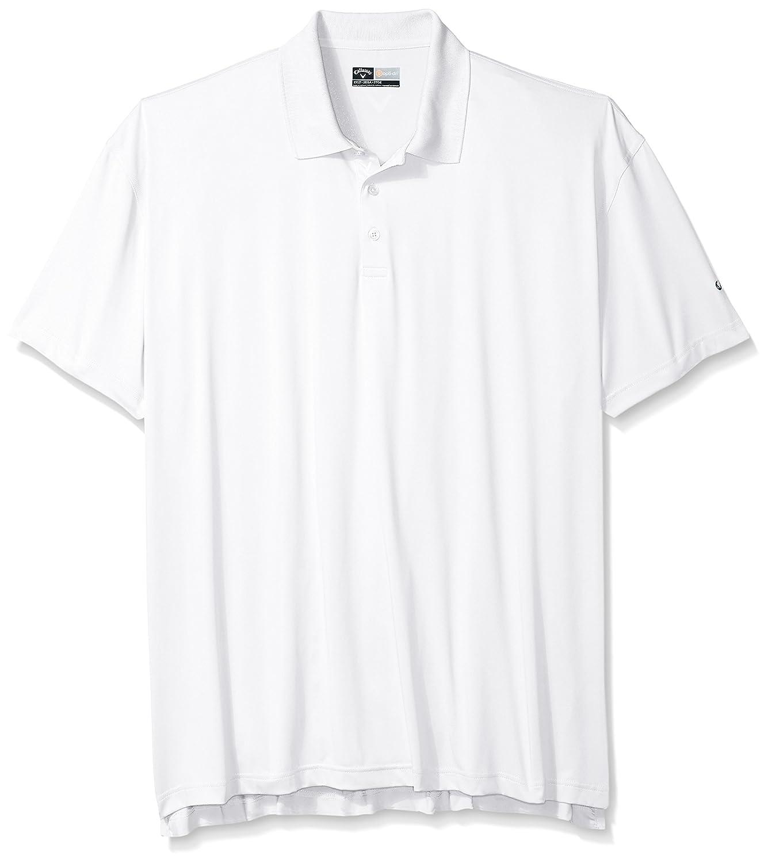 CallawayメンズBig & Tall opti-driソリッドポロ半袖 B01A8KLIO8 L|ブライトホワイト ブライトホワイト L