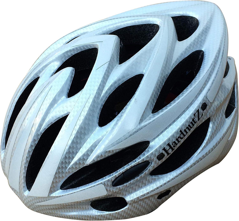 54-61cm One Size Fits All HardnutZ Helmets Stealth Hi Vis Road Cycle Bike MTB