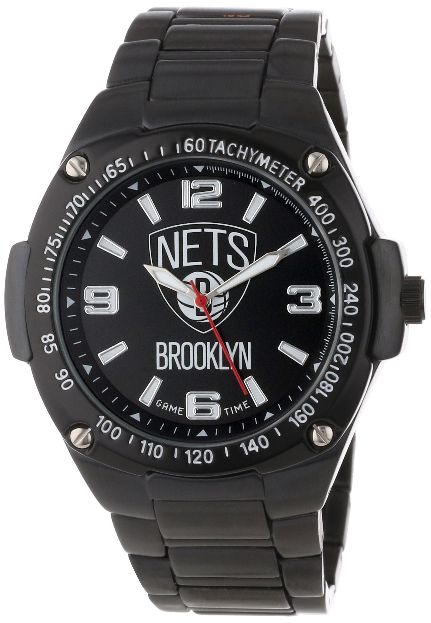 Game Time Unisex NBA-WAR-BK Warrior Brooklyn Nets Analog 3-Hand Watch