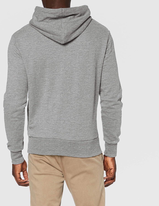 Superdry Herren Core Stripe Hood Sweatshirt Grau (Grey Marl 07q)