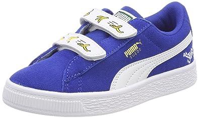 Puma Unisex-Kinder Minions Suede V PS Sneaker, Schwarz Black White, 33 EU