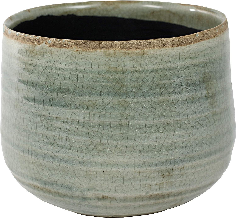 TS Indoor Cache-Pot Iris Cache-Pot c/éramique Menthe Vert /Ø14cm ?12cm