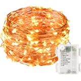 LightsEtc 100 LED String Lights 33ft Warm White Decorative Copper Wire Dimmable Fairy Lights