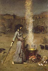 John William Waterhouse - The Magic Circle, Size 24x36 inch, Poster Art Print Wall décor