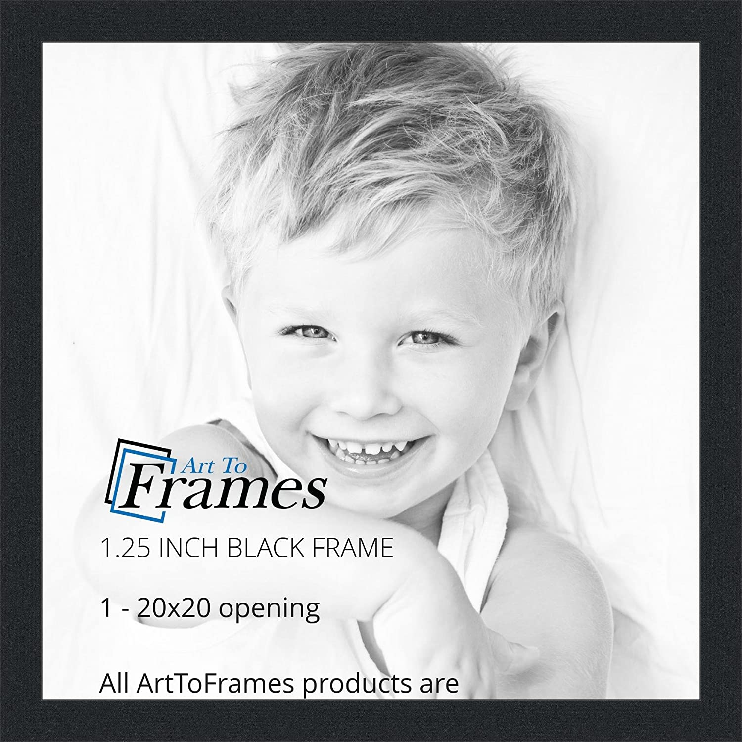 Amazon.com - ArtToFrames 20x20 inch Black Picture Frame ...