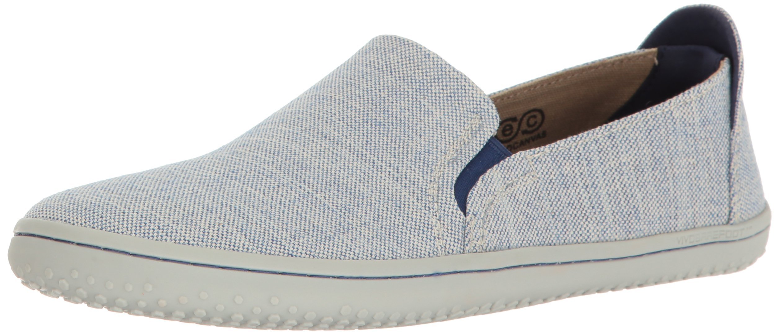 Vivobarefoot Women's Mata Slip-On Shoe Loafer, Blue, 41 D EU (10 US)