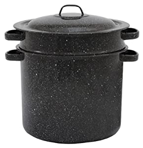 Granite ware 7.5-quart Blancher 3-piece set stock pot