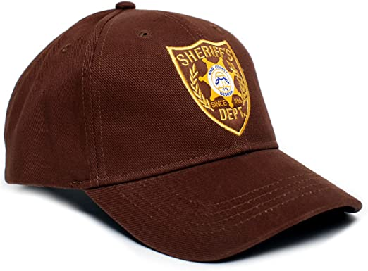 Walking Dead Sombrero del Sheriff Dept Appliqué Unisex-Adult Talla ...
