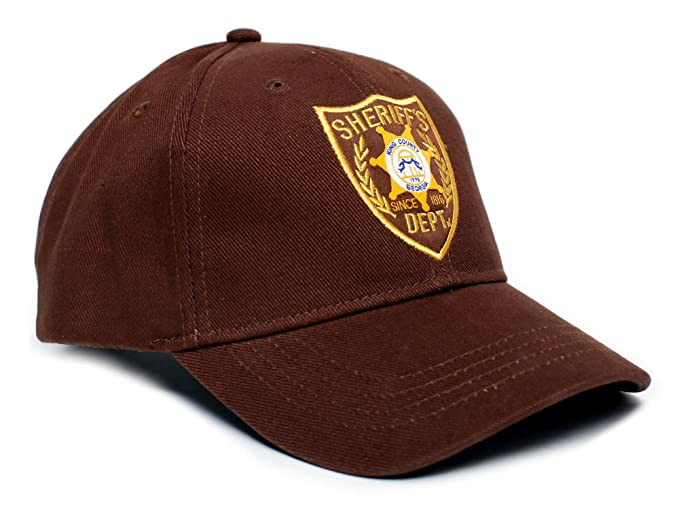 68eb405e2a0 Amazon.com  Walking Dead Hat Sheriff s Dept Appliqué Unisex-Adult ...