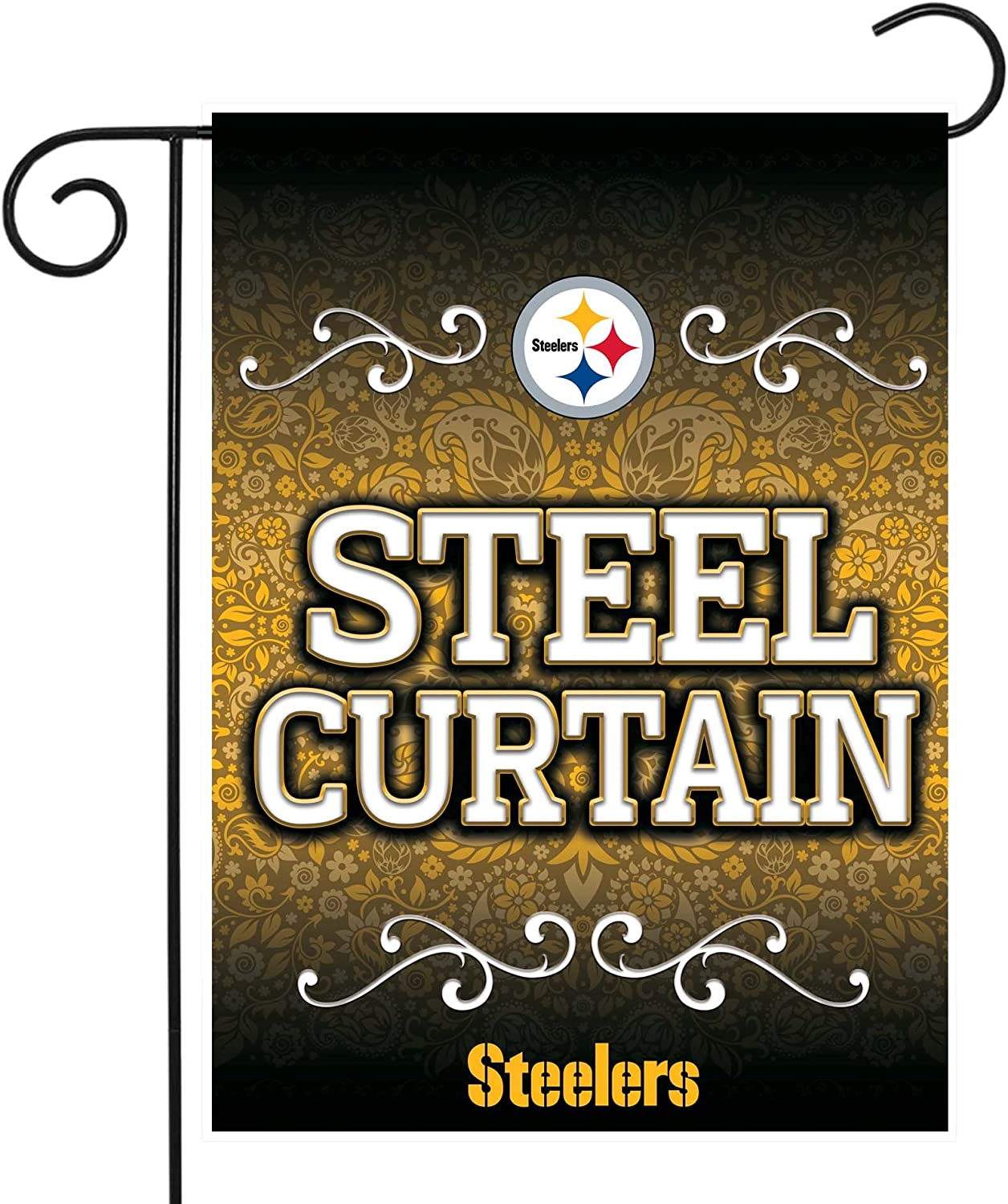 13 X 18 with Pole Rico Industries Steelers Garden Flag