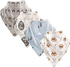 Luvable Friends Basic - Juego de pañuelos de algodón