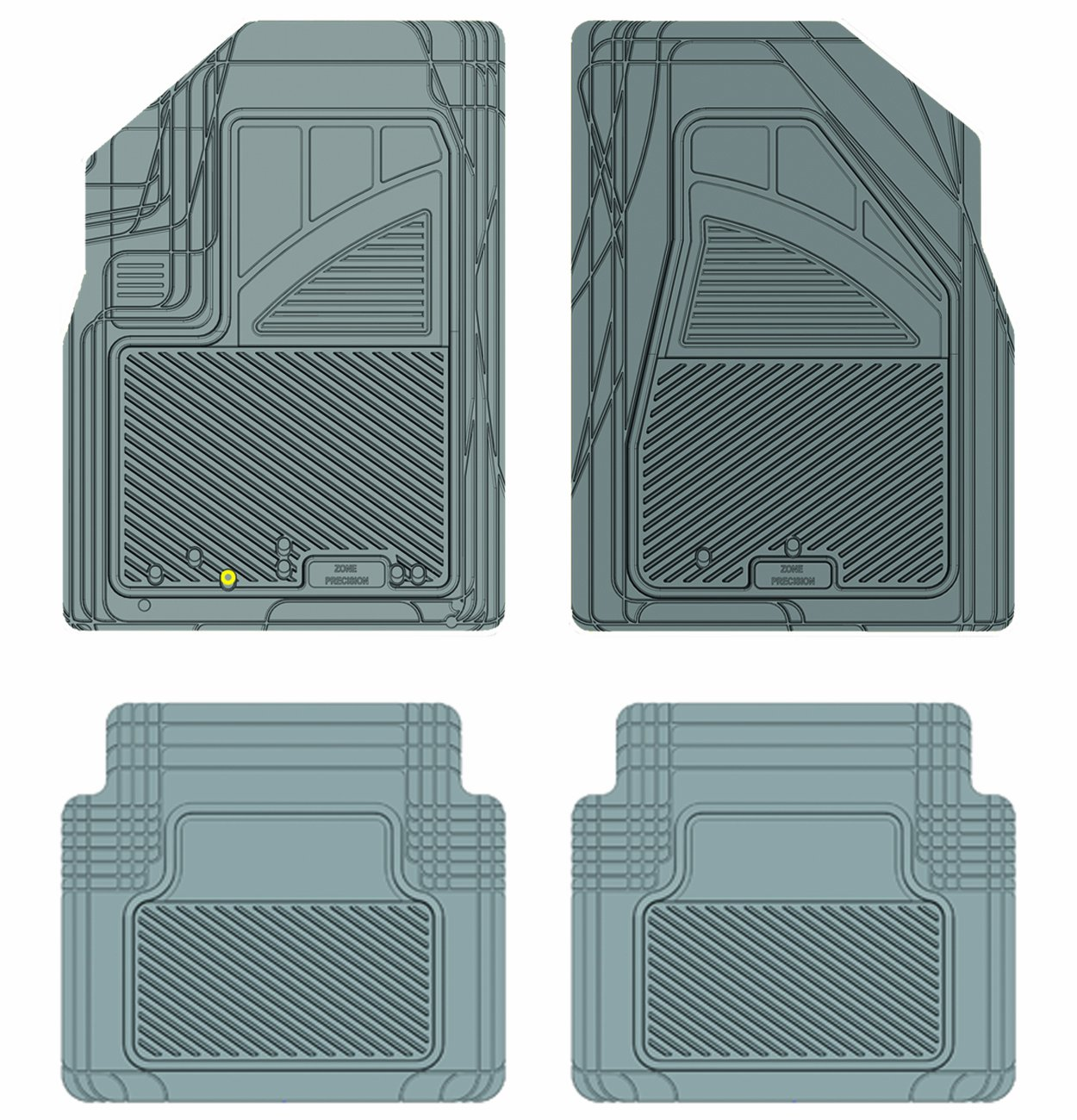 Grey Koolatron Pants Saver Custom Fit 4 Piece All Weather Car Mat for Select Dodge Models