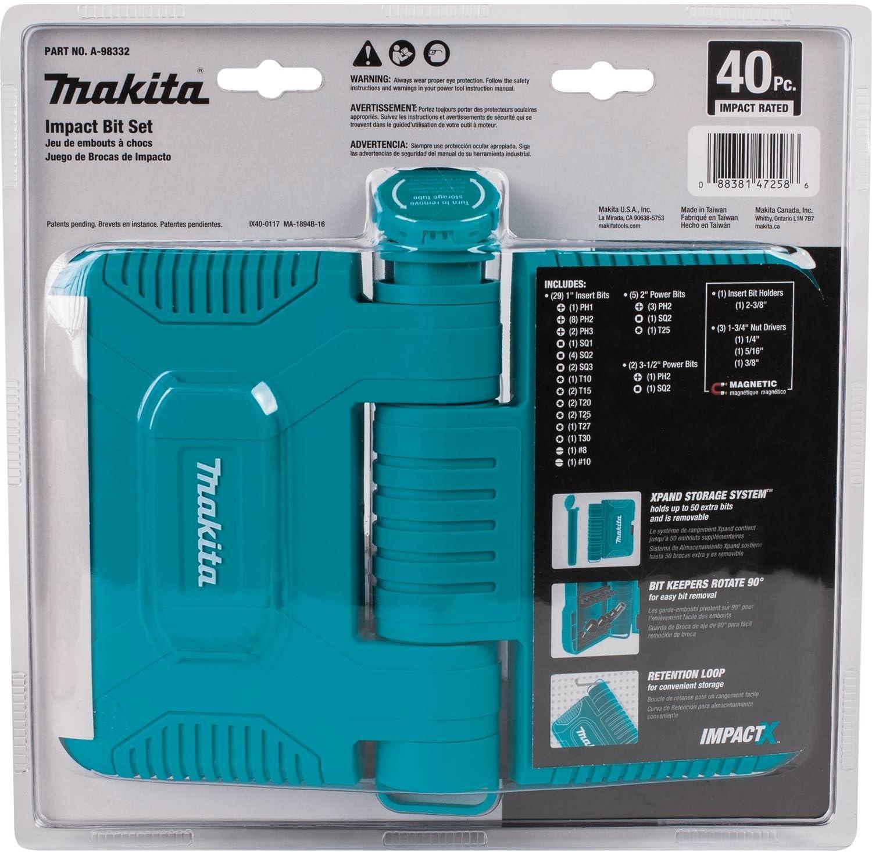 ImpactX Driver Bit Set Makita A-98348 50 Pc