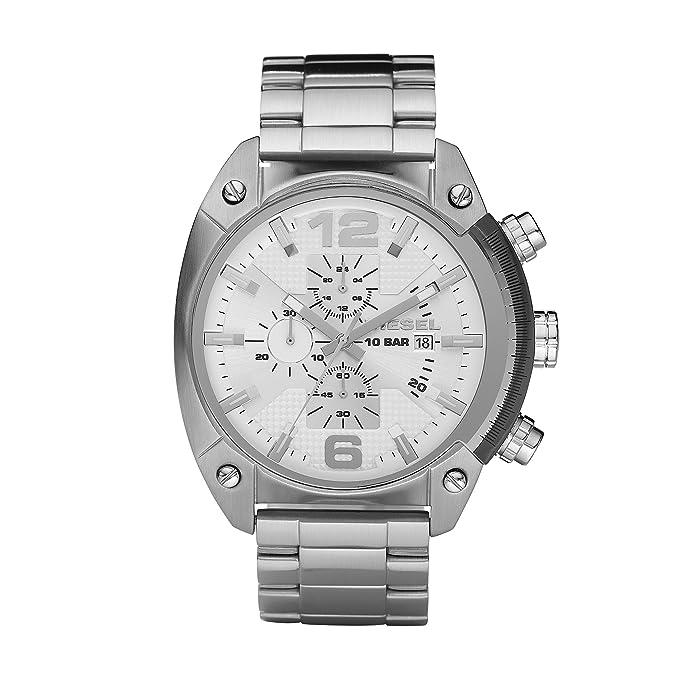Diesel Reloj Análogo clásico para Hombre de Cuarzo con Correa en Acero Inoxidable DZ4203: Diesel: Amazon.es: Relojes