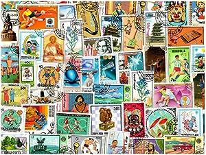 pghstamps Mongolia 300 Colección de Diferentes Sellos para coleccionistas: Amazon.es: Juguetes y juegos