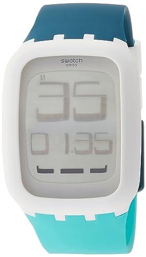 Swatch Reloj Hombre de Digital con Correa en Silicona SURW115: Amazon.es: Relojes