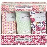 Vintage Fabrics and Flowers 3 Mini Hand Creams, 128 g