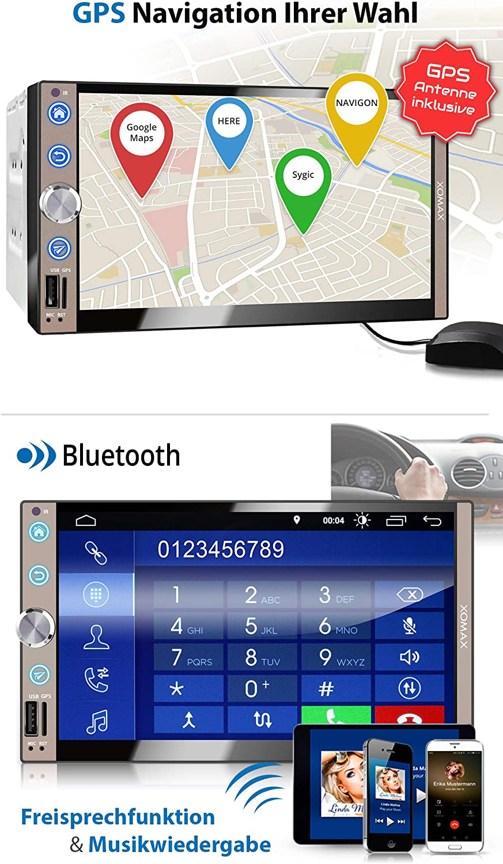 Xomax Xm 2va769 Car Radio With Android 10 Quad Core 2gb Ram 32gb Rom Gps Navigation I Support Wifi Wlan 3g 4g Dab Obd2 I Bluetooth 7 Inch 18 Cm Touchscreen Usb