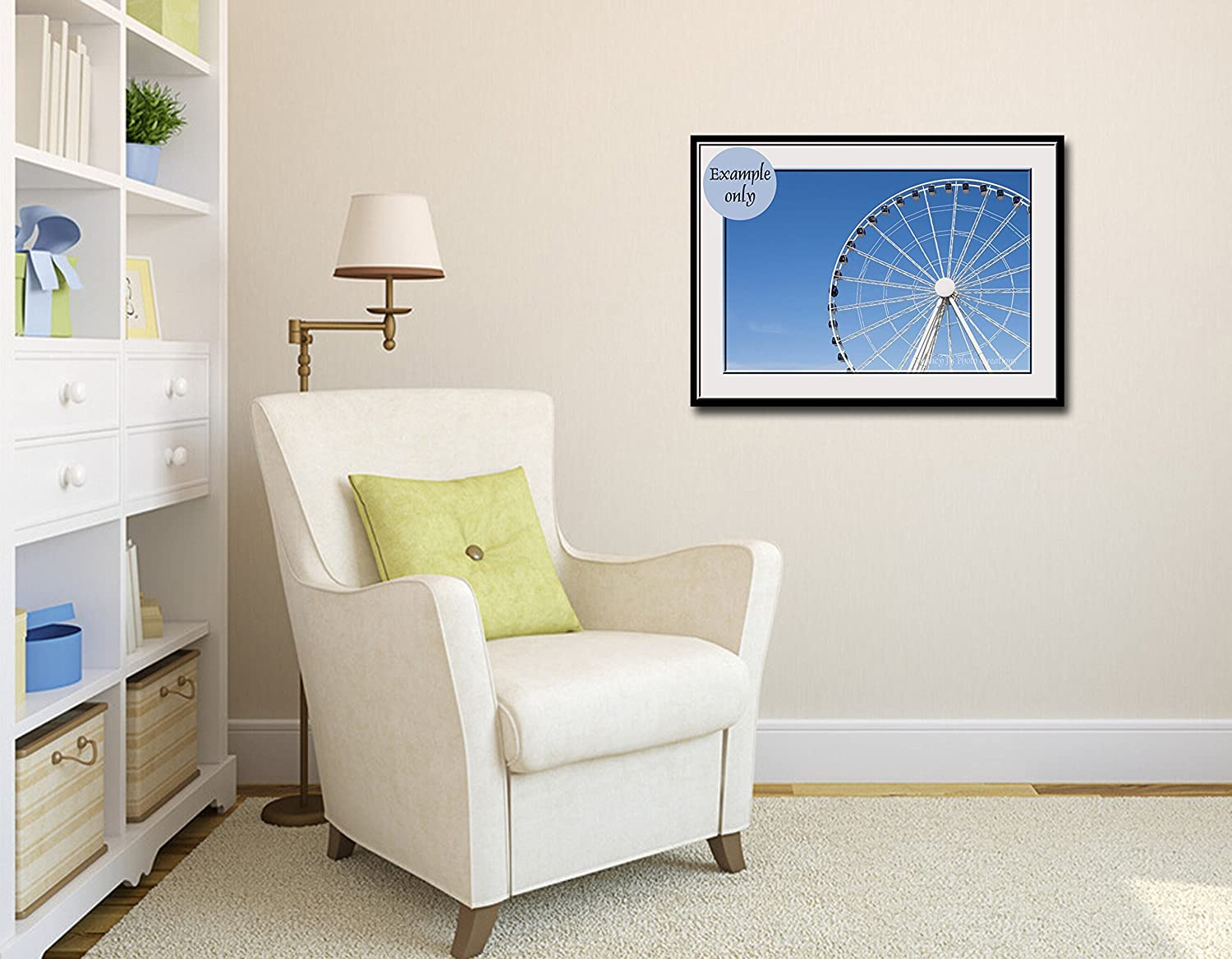 Exceptional Amazon.com: Blue White Ferris Wheel Unframed Photographic Print Seattle  Travel Photography Minimalist Home Decor 5x7 8x10 8x12 11x14 12x18 16x20  16x24 ...