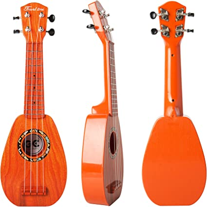 Wenini Mini Ukulele Toy Beginner Classical Ukulele Guitar Educational Musical Instrument Toy for Kids Birthday Festival Gift Brown
