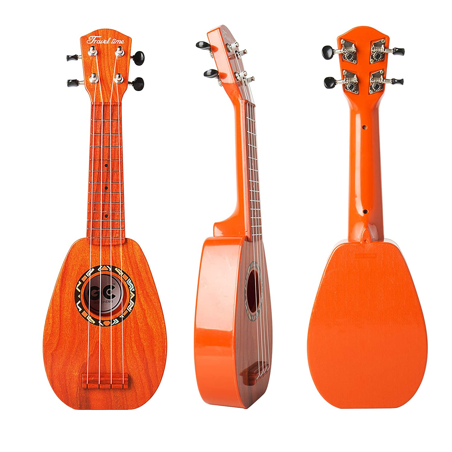 17 Inch Mini Guitar Ukulele Toy For Kids,Guitar Children Educational Learn Guitar Ukulele With the Picks and Strap Can Play Musical Instruments Toys (17 Inch Ukulele-2)