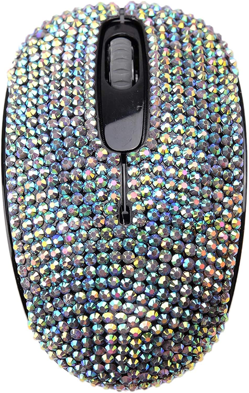 SA@ Luxury 6 Colors Bling Crystal Rhinestone 2.4G Wireless Mouse for Laptop, Notebook, PC, Computer, MacBook Gifts for The Office (Pink Colorful)