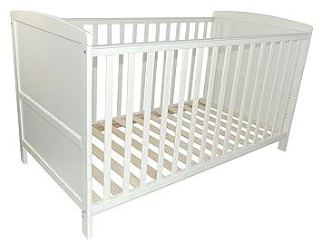 Puckdaddy babybett 70x140cm weiß auch als kinderbett nutzbar