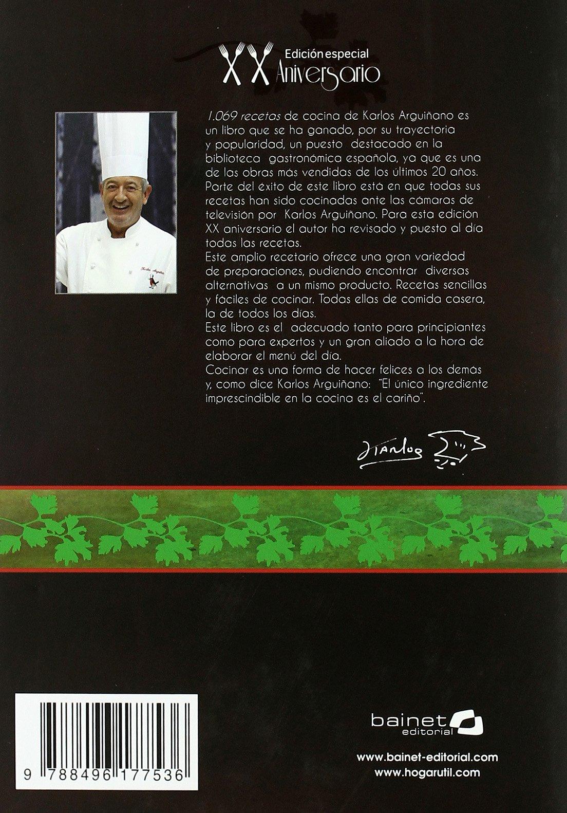 1060 recetas : edición especial XX aniversario: Amazon.co.uk: Karlos  Arguiñano: 9788496177536: Books