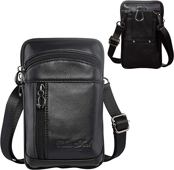 Bag. Pouch only Genuine Leather Spinning Top Black Carrier