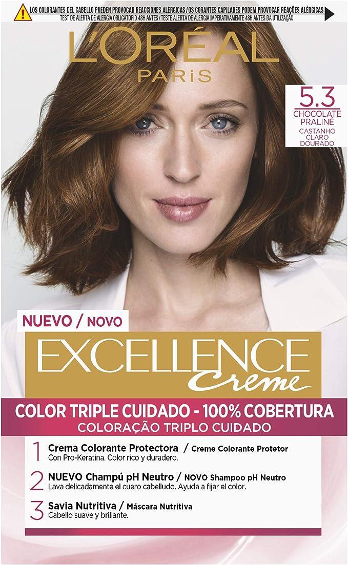 LOréal Paris Excellence Creme 5.3 Chocolate Praline - 1 Coloración Permanente