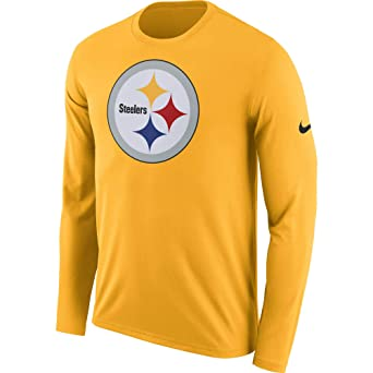 089bc9f17 Nike Men s Pittsburgh Steelers Dri Fit Primary Logo Long Sleeve Tee  University Gold Size Small at Amazon Men s Clothing store