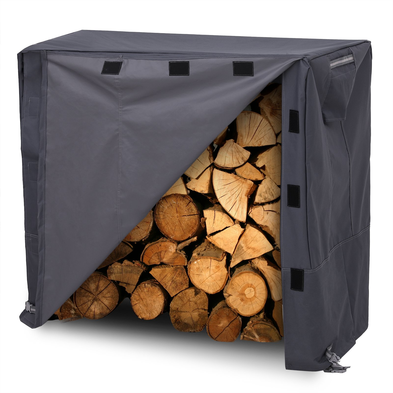 SONGMICS Heavy Duty Log Rack Cover Waterproof Firewood Cover 4ft UGLC48GY by SONGMICS