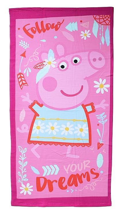 Peppa Pig - Toalla infantil microfibra 70x140 cm