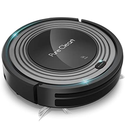 Pure Clean Smart Robot Vacuum Automatic Floor Cleaner With Mop Sweep Dust Ability Amazon In Home Kitchen