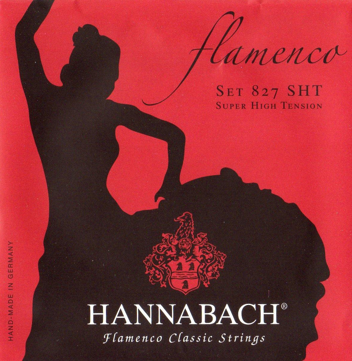 Hannabach Classical Guitar Flamenco Guitar Super High Tension Polished 827-SHT Howard Core Company 652947 HA.827SHT