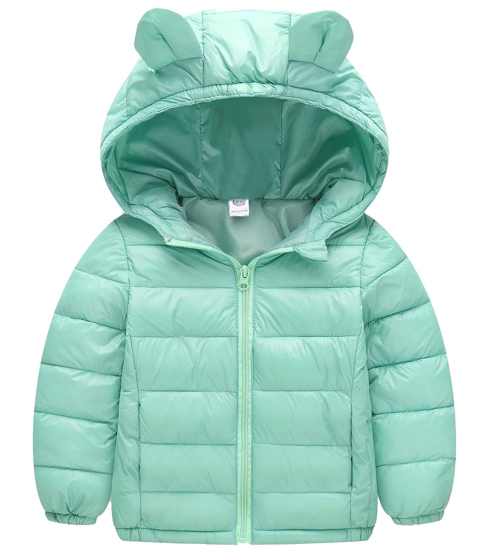 Kedera Toddler Girl Lovely Ear Winter Warm Coat Baby Hoodie Down Jacket Outwear
