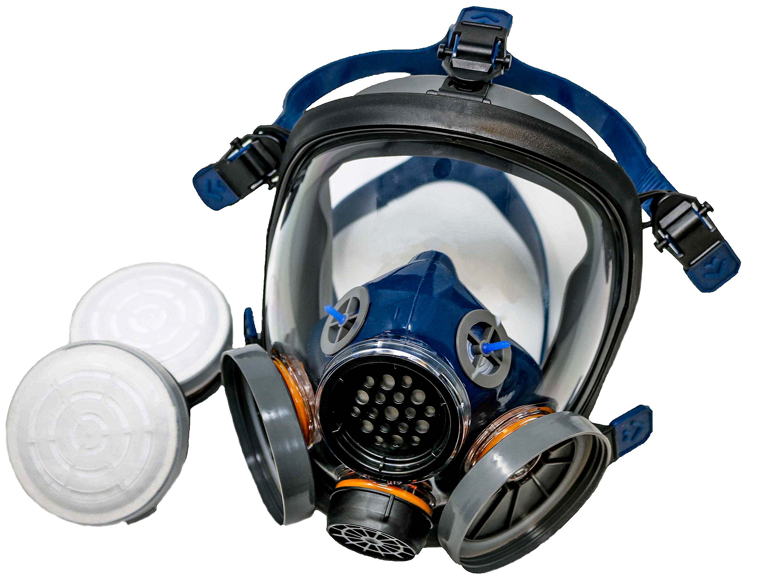 PD-100 Full Face Respirator by Parcil Distribution. 1 Year Factory Guarantee. Double Air Filter, Eye Protection, Gas Mask - Industrial Grade Quality by Parcil Distribution (Image #3)