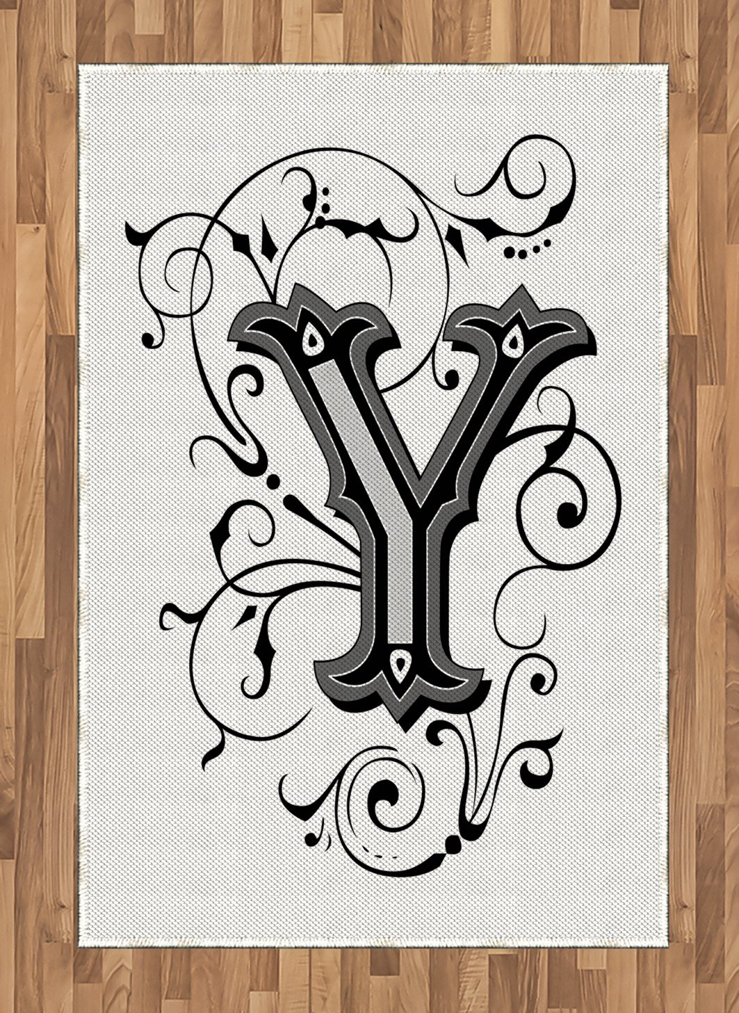 Amazon.com: Ambesonne Letter Y Area Rug, Calligraphy Inspired