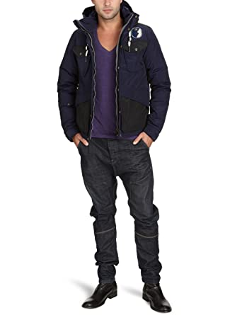 G Star Men's Barrington Hooded JKT 82564 Jacket Blue