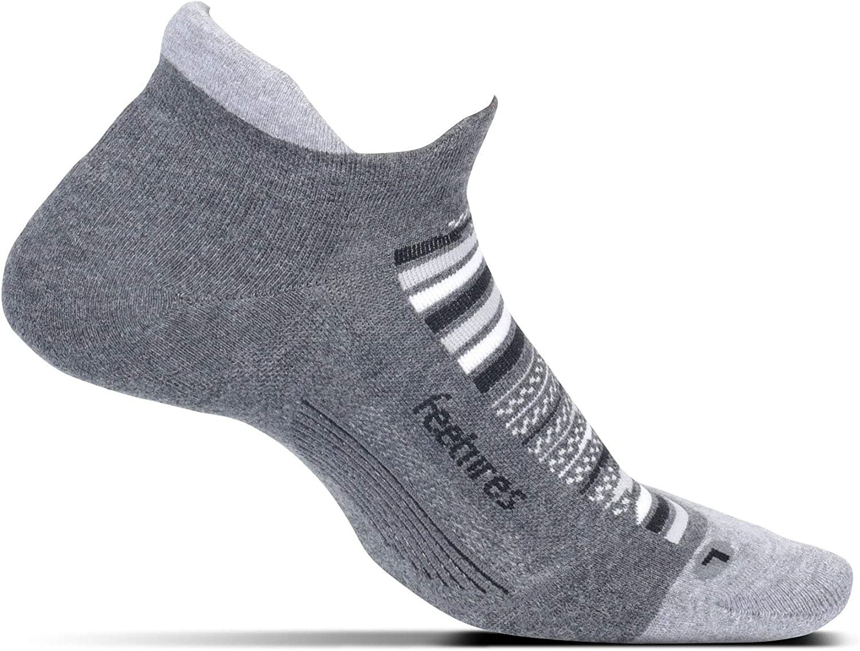 Small, Night Sky Feetures Unisex Elite Max Cushion No Show Tab Sock