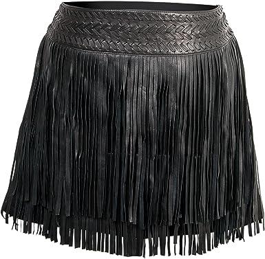 Zerimar Faldas de Cuero Mujer - Falda Mujer - Falda Mujer Casual ...