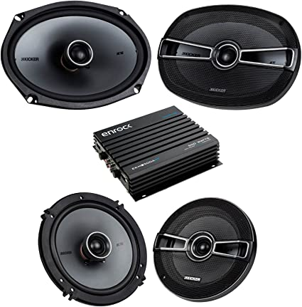 Car Speaker System >> Car Speaker Bluetooth Streming Set Bundle Combo With 2 Kicker 41ksc654 6 5 Inch 2 Way Vehicle Stereo Speakers 2 Kicker 41ksc694 6x9 Car Speaker