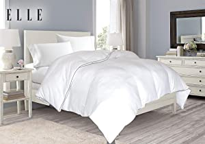 Blue Ridge Home Fashions 1200CVC Solid Down Alterantive Comforter, Full/Queen, White