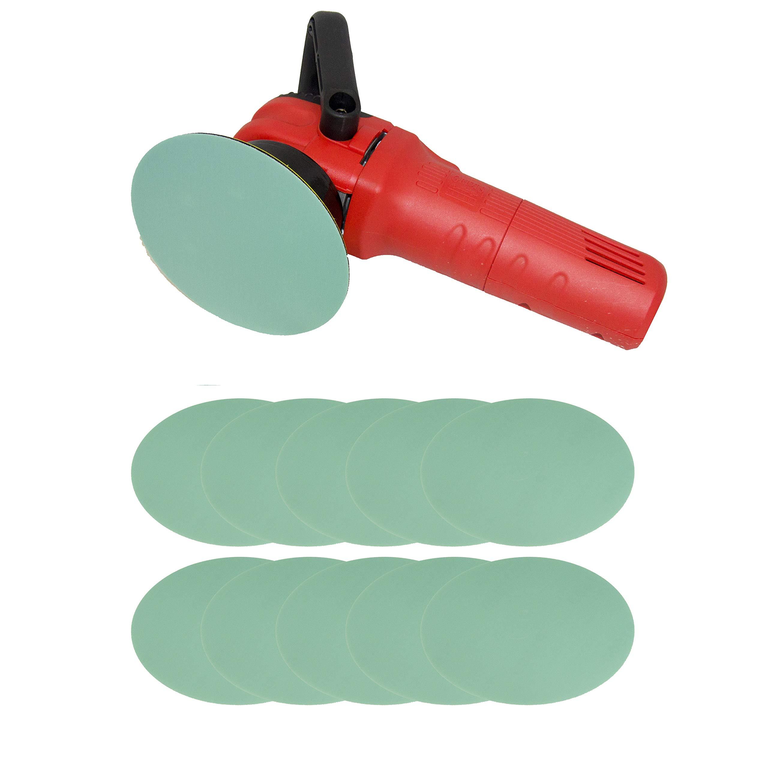 Abrasive Blending Disc 6'' 10-Pack | Sanding Pad for Automotive Paint Clear | DA Polisher Hook and Loop Backing (1000 Grit)