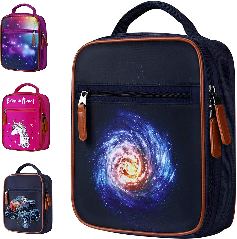 Children/'s Lunch Bag FORTNITE Insulated School Boys Girls Lunch Box Snack Picnic