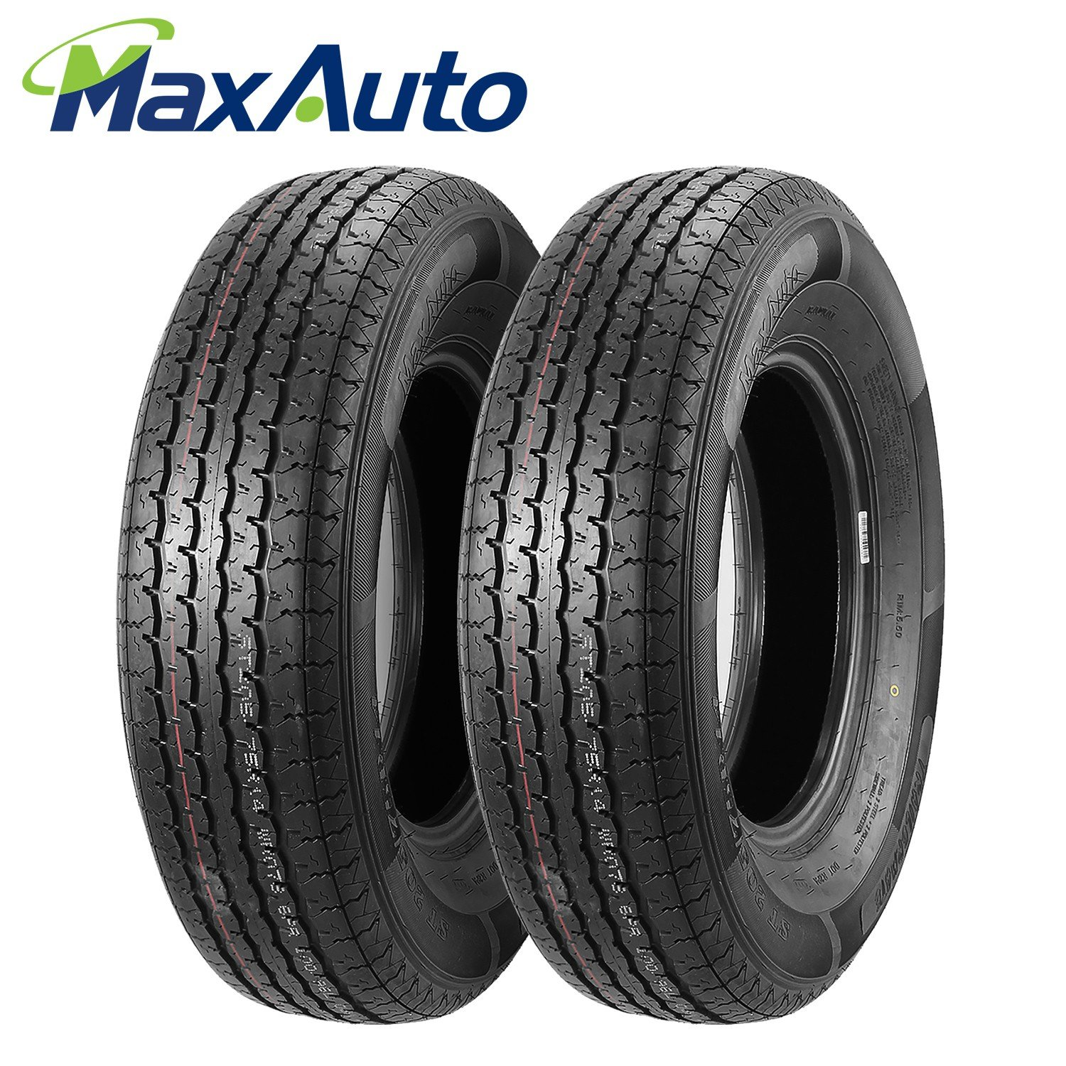 ST205/75R14 Load Range D MaxAuto Radial Trailer Tires ST205/75R-14 8Ply(Pack of 2)