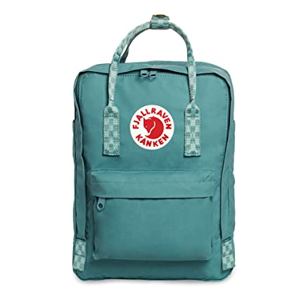 "6cd7eb425 Fjallraven - Kanken Laptop 13"" Backpack for Everyday, Frost  Green-Chess Pattern"