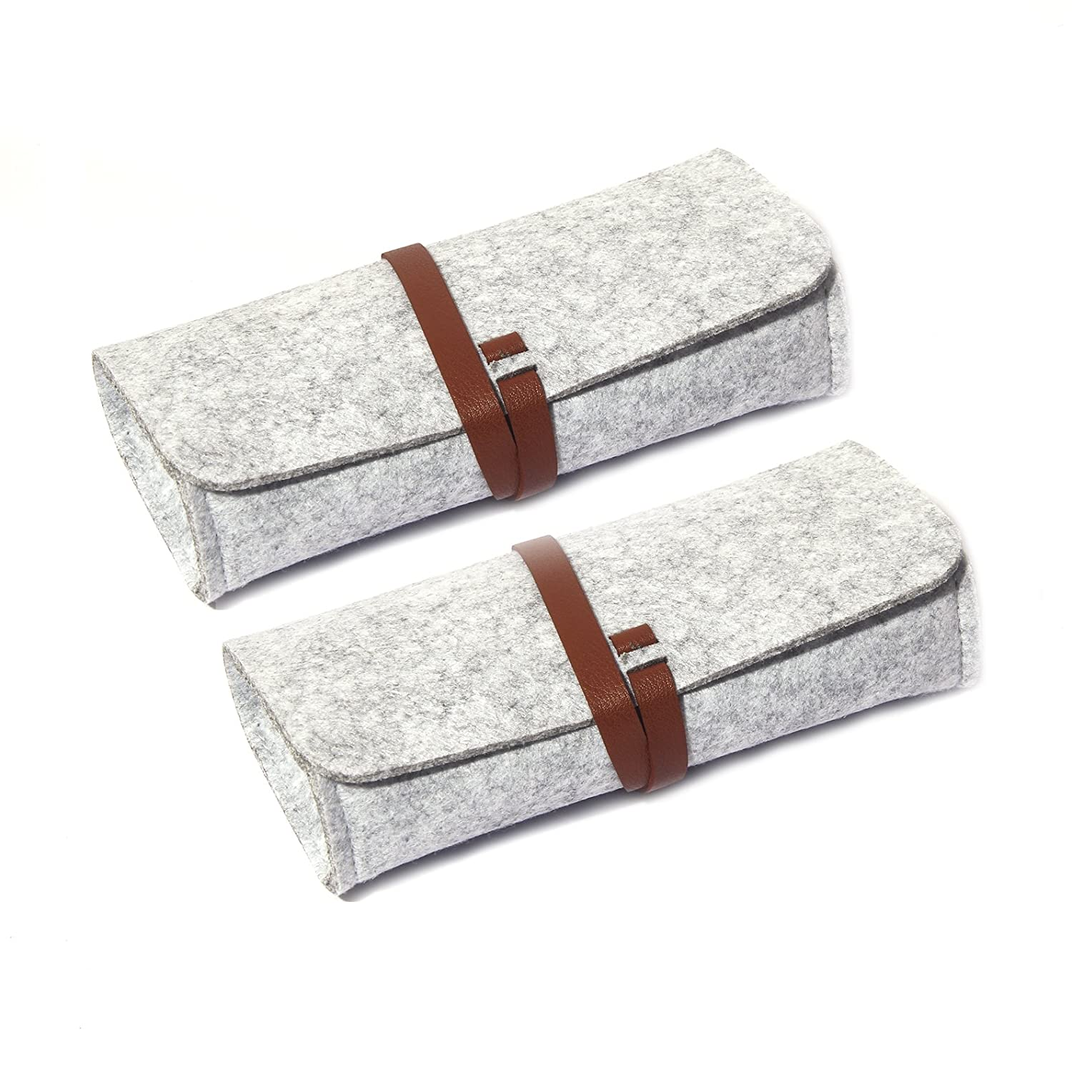 Felt Eyeglass Case, 2 Pack Sunglasses Pouch